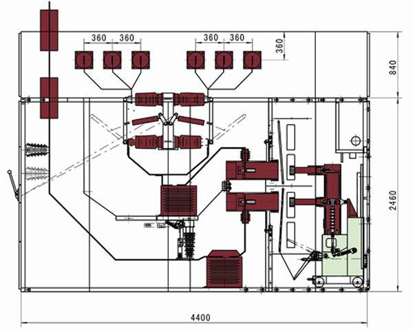 KYN口-40.5铠装式金属封闭开关设备是本公司研制开发的一种小型化铠装金属封闭开关设备(简称开关柜)。该产品适用于三相交流50Hz电力系统,用于接受和分配电能,并对电路实行控制、保护及检测。该开关柜有铠装柜和双母线柜两种结构形式,可配置SF6断路器、VD4-40.5断路器、ZN72-40.