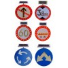 太阳能限速标志牌 led交通标志牌,圆形标志牌