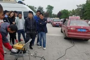 环保部门专项整治高陵出租车排气污染