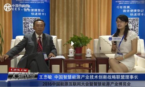 《人物访谈》王忠敏在2016中国能源互联网大会暨智慧能源产业博览会接受采访