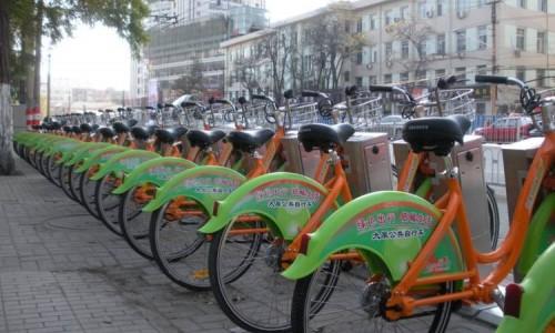节能低碳绿色出行 公共自行车助力百人骑行宣传环保