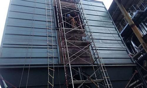 我公司山西化工厂大型布袋除尘器设备安装项目正式启动