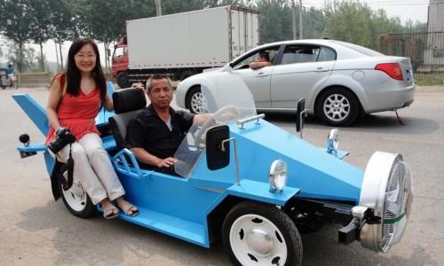 北京农民发明新能源风电跑车,时速达140公里,驾驶上路很拉风