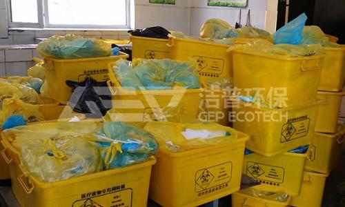 医院垃圾破碎机设备生产线,医疗垃圾破碎处理工艺流程
