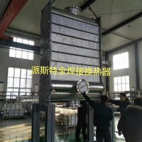 合资品牌派斯特供用电厂烟羽脱白用浆液冷却器 全焊接冷却器