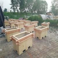 石家庄景观绿化种植木质花盆——河北防腐木花箱厂家