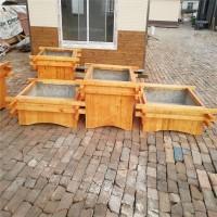 保定防腐木花箱|绿化种植木质花盆|户外景观花箱