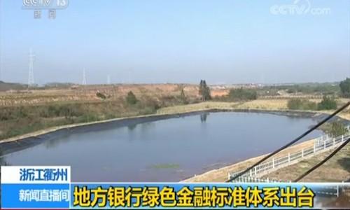 浙江衢州地方银行绿色金融标准体系出台