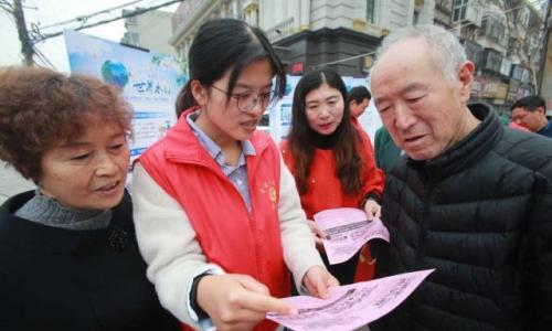 河南开封:节水宣传进社区