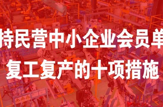 中国循环经济协会关于支持民营中小企业会员单位复工复产的十项措施