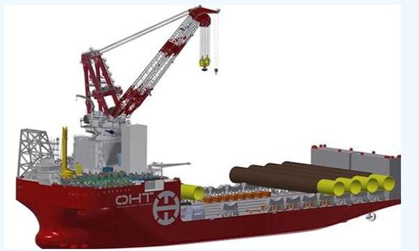 全球最大海上风电基础安装船正在江苏招商局建造!