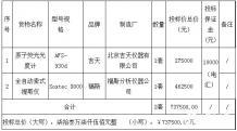 甘肃省环境监测中心站分析测试仪器设备采购项目中标公告